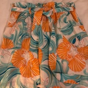 Lilly Pulitzer silk nautical print skirt